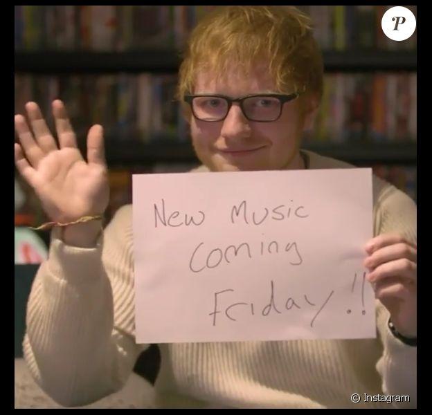 Ed Sheeran a annoncé son retour tant attendu le 1er janvier 2017.