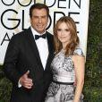 """""""John Travolta et sa femme Kelly Preston - 74ème cérémonie annuelle des Golden Globe Awards à Beverly Hills. Le 8 janvier 2017"""""""