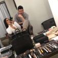 Kim Kardashian prépare sa Masterclass à Dubaï. Photo publiée sur Snapchat le 9 janvier 2016