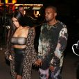 Kim Kardashian et son mari Kanye West arrivent au défilé Off White collection printemps été 2017 à Paris le 29 septembre 2016