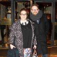 Exclusif - Marilou Berry et Arnaud Schneider au Fouquet's et passent la soirée au Queen à Paris le 4 mars 2015.