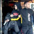 Kylie Jenner et Tyga sortent du restaurant Yamato à Los Angeles le 16 décembre 2016.