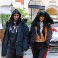 Kylie Jenner et Tyga repérés à Calabasas, le 26 novembre 2016.