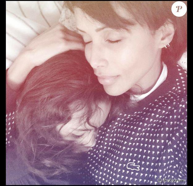 Sonia Rolland et sa fille Tess sur une photo publiée sur Instagram le 13 janvier 2017 pour les 10 ans de la fillette.