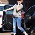 Katherine Heigl enceinte est allée déjeuner au restaurant Mexicain Sol Y Luna à Encino, le 4 novembre 2016
