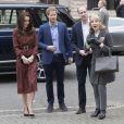 La duchesse Catherine de Cambridge, le prince William et le prince Harry prenaient part le 19 décembre 2016 à l'assemblée générale et la fête de Noël de leur association Heads Together, à Londres.