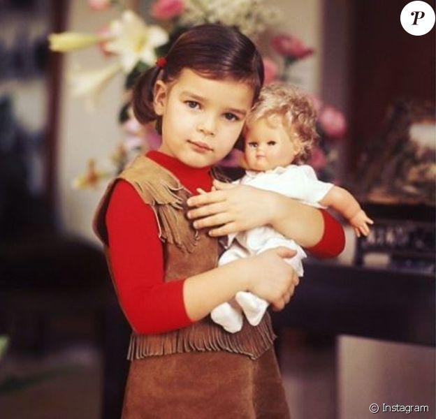 Stéphanie de Monaco enfant, photo partagée sur Instagram par sa fille Camille Gottlieb à l'occasion de son anniversaire le 1er février 2017.