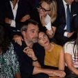 """Alessandra Sublet et son mari Clément Miserez - Soirée de la 9ème édition du """"Etam Live Show"""" (Etam Lingerie) lors de la fashion week à Paris, le 27 septembre 2016."""