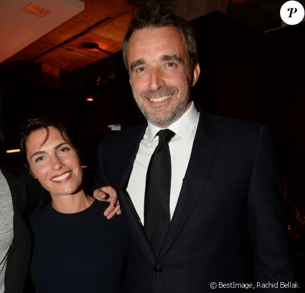 Alessandra Sublet et son mari Clément Miserez - Inauguration de la boutique Audemars Piguet, 15 rue Royale, et présentation de la nouvelle collection Royal Oak Yellow Gold, à Paris, le 26 mai 2016.