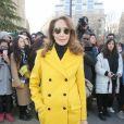 """Marisa Berenson - Arrivées au défilé de mode """"Dior Homme"""", collection Hommes Automne-Hiver 2017/2018 au Grand Palais à Paris. Le 21 janvier 2017"""