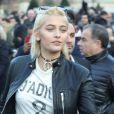 Paris Jackson à la sortie du défilé Dior Homme collection Automne-Hiver 2017/2018 lors de la fashion week à Paris, le 21 janvier 2017.