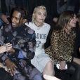 """Maria Grazia Chiuri, ASAP Rocky, Paris Jackson et Carine Roitfeld - Front Row au défilé de mode """"Dior Homme"""", collection Hommes Automne-Hiver 2017/2018 au Grand Palais à Paris. Le 21 janvier 2017"""