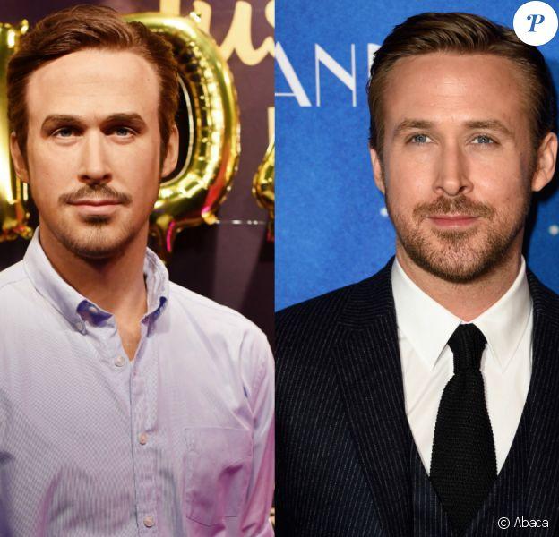 Ryan Gosling en cire Vs. Ryan Gosling en chair et en os. Oui, il n'y a pas photo.