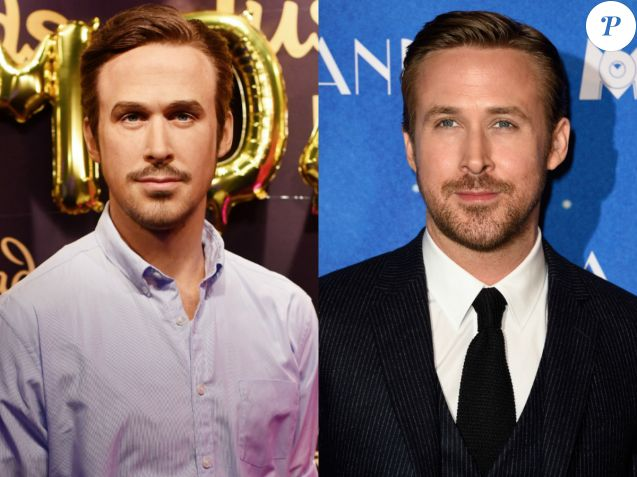 Ryan Gosling en cire Vs. Ryan Gosling en chair et en os. Oui, il n'y a pas photo.