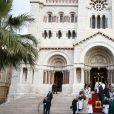 Image des célébrations lors de la fête de sainte Dévote devant la cathédrale de Monaco, le 27 janvier 2017. © Olivier Huitel/Pool restreint Monaco/Bestimage