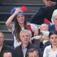 Radmila, mère de Nikola Karabatic, sa compagne Géraldine Pillet et leur fils Alek lors du match de finale du mondial de handball, France - Norvège à l'AccorHotels Arena à Paris, France, le 29 janvier 2017. La France remporte le match 33-26. L'équipe de France décroche son 6ème titre mondial. © Cyril Moreau/Bestimage