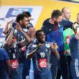 L'équipe de France de Handball célébre son titre mondial lors du match de finale du mondial de handball, France - Norvège à l'AccorHotels Arena à Paris, France, le 29 janvier 2017. La France remporte le match 33-26. L'équipe de France décroche son 6ème titre mondial. © Cyril Moreau/Bestimage