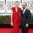 Bérénice Bejo et Asghar Farhadi aux Golden Globe Awards 2013.