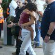 Kris Jenner, Kourtney, Kim Kardashian et leurs enfants, Khloé Kardashian, Kylie Jenner, Tyga et son fils King Cairo quittent le Costa Rica. Liberia, le 30 janvier 2017.