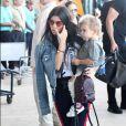 Kourtney Kardashian et son fils Reign Disick quittent le Costa Rica. Liberia, le 30 janvier 2017.