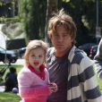 Proud papa Larry Birkhead takes his daughter Dannielynn to a local park for a day of fun. Dannielynn, who looks more like her mother Anna Nicole Smith every day, rode a scooter with her dad's help and the two took a walk together, stopping so she could admire a statue of a mountain lion. It was recently reported that Anna Nicole Smith's life is to be the subject of a grand opera produced by the Royal Opera to be performed at Covent Garden starting in 2012 in Beverly Hills, Los Angeles, CA, USA on March 13, 2010. Photo by GSI/ABACAPRESS.COM14/03/2010 -