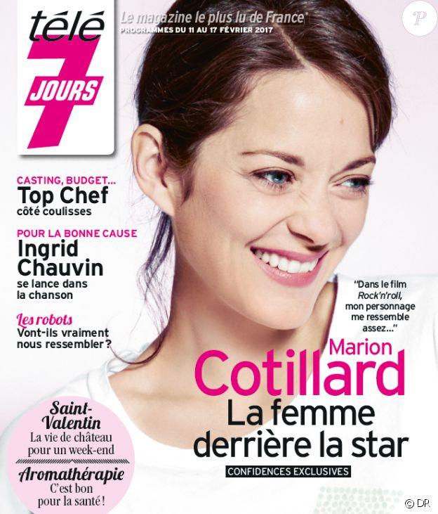 Marion Cotillard en couverture du magazine Télé 7 jours du 11 février 2017