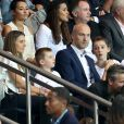 Thierry Omeyer en famille avec sa femme Laurence et leurs enfants Manon et Loris lors du match de Ligue 1 Paris Saint-Germain (PSG) - AS Saint-Etienne (ASSE) au Parc des Princes à Paris, le 9 septembre 2016. © Cyril Moreau/Bestimage
