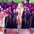 Lady Gaga en concert pendant la mi-temps du Super Bowl au NRG Stadium de Houston le 5 février 2017. © Dan Wozniak via ZUMA Wire / Bestimage