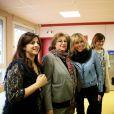 Emmanuel Macron, accompagné de sa femme Brigitte (Trogneux), a visité à l'école maternelle Dombrowski à Lille, à l'occasion de son déplacement durant deux jours dans les Hauts-de-France. Le 14 janvier 2017 © Dominique Jacovides / Bestimage 14/01/2017 - Lille