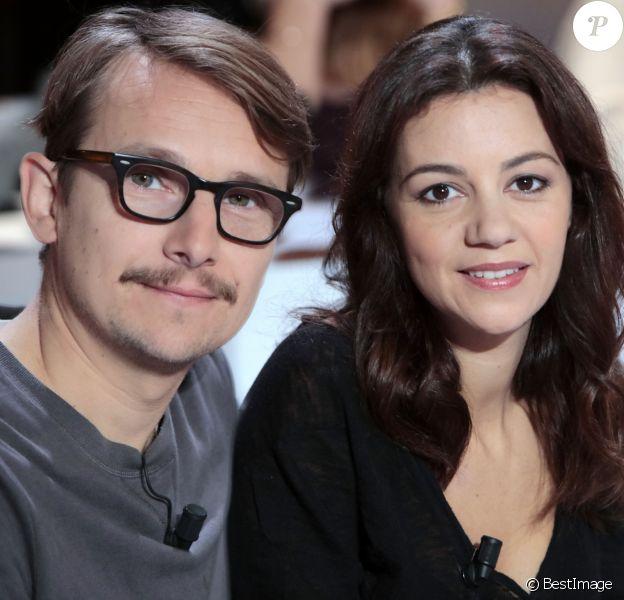 Portrait de Lorant Deutsch et sa femme Marie Julie Baup. Le 8 octobre 2015