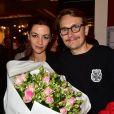"""Exclusif - Marie-Julie Baup et son mari Lorant Deutsch - Première de la pièce """"Irma la douce"""" au Théâtre de la Porte-Saint-Martin à Paris le 15 septembre 2015."""