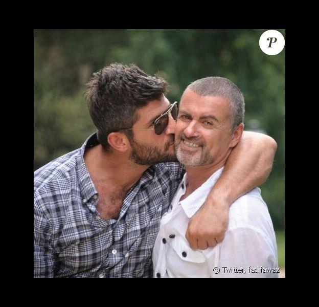 George Michael et son chéri Fadi Fawaz - Photo publiée sur Twitter le 4 février 2017