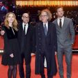 """Clémence Poésy, Stanley Tucci, Geoffrey Rush, Armand Douglas """"Armie"""" Hammer à la première de """"Final Portrait"""" au 67ème Festival International du Film de Berlin, le 11 février 2017."""