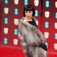 Noomi Rapace - Arrivée des people à la cérémonie des British Academy Film Awards (BAFTA) au Royal Albert Hall à Londres, le 12 février 2017.