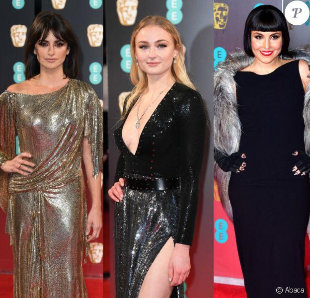 Penélope Cruz, Sophie Turner et Noomi Rapace se sont distinguées sur le tapis rouges des BAFTA 2017.