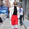 Gigi Hadid est très occupée cette semaine avec la fashion week de New York. Elle court les défilés de mode. Le 13 février 2017 © CPA / Bestimage