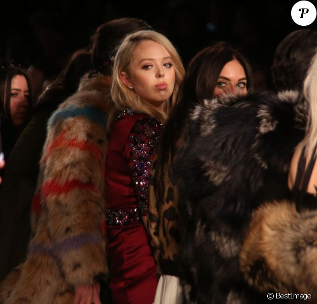 Tiffany Trump (fille de Donald Trump) - Défilé de mode Dennis Basso F/W 2017 au Skylight Clarkson Square à New York, le 14 février 2017 © Sonia Moskowitz/Globe Photos via Zuma/Bestimage