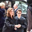 La princesse Maria-Esméralda de Belgique et son fils Leopoldo Moncada - Arrivées de la famille royale de Belgique lors de la cérémonie de l'Eucharistie en mémoire des membres défunts de la famille royale à Bruxelles. Le 17 février 2017