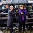La princesse Margaretha de Luxembourg - Arrivées de la famille royale de Belgique lors de la cérémonie de l'Eucharistie en mémoire des membres défunts de la famille royale à Bruxelles. Le 17 février 2017