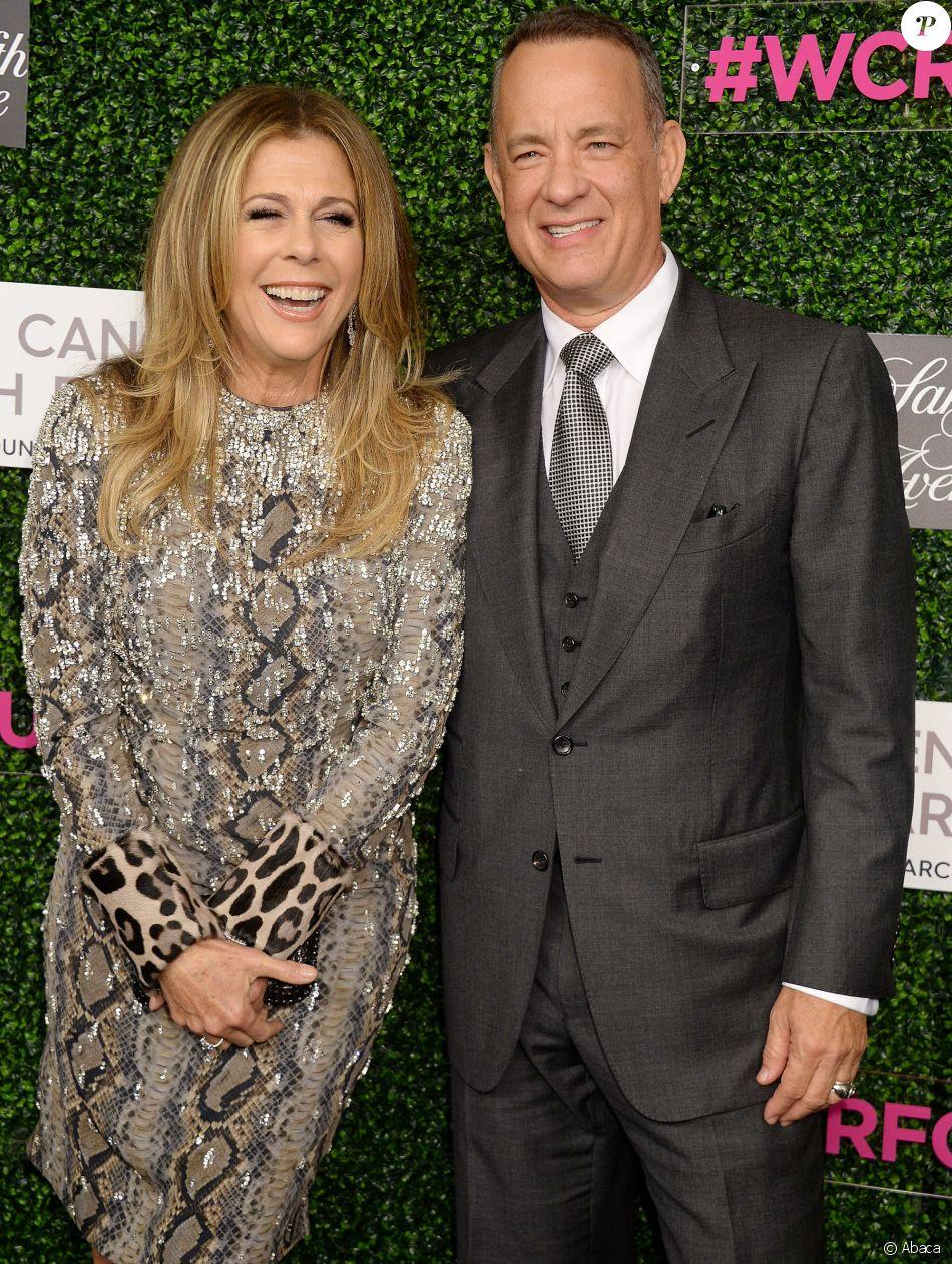 Rita Wilson et Tom Hanks lors d'une soirée caritative organisée au profit de l'organisation Women's Cancer Research Fund à Los Angeles le 16 février 2017