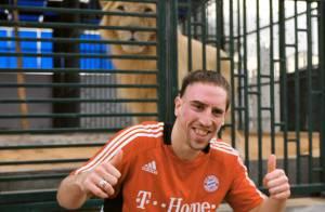 Quand Franck Ribéry rencontre... le roi de la jungle !