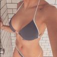 Marion Lefebvre n'a fait qu'un court passage dans Top Chef (saison 8) mais connaît une grande popularité avec ses photos très sexy sur Instagram. Comme ici, sous sa douche dans un bikini de la marque Peachy Bikini, le 19 février 2017.