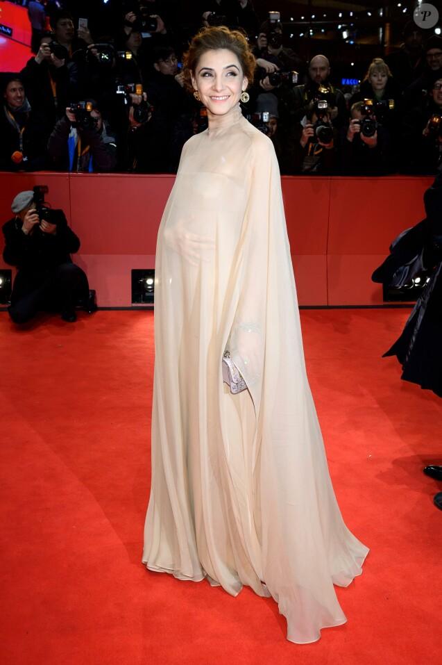 Clotilde Courau - Arrivées et cérémonie de clôture du 67e festival du film de Berlin le 18 février 2017.