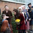 Kate Middleton, duchesse de Cambridge, arrive pour découvrir le programme MIST de l'association Action for Children, dont elle est la nouvelle marraine, le 22 février 2017 au Pays de Galles.