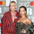 Kyle De'Volle et Rita Ora arrivant aux Brit Awards 2017 à Londres, le 22 février 2017.