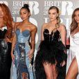 Perrie Edwards, Jesy Nelson, Jade Thirlwall, Leigh-Anne Pinnock, aka Little Mix, arrivant aux Brit Awards 2017 à Londres, le 22 février 2017.