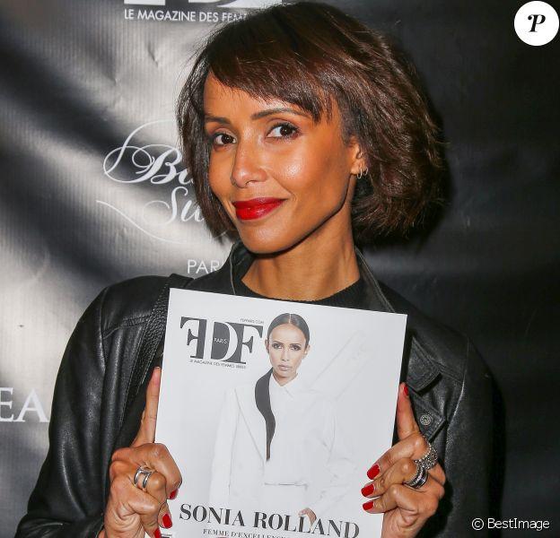 Semi-exclusif - Sonia Rolland lors de la soirée de lancement du numéro 1 de FDF Paris Magazine à l'hôtel particulier Christian Dior à Paris, France, le 21 février 2017 © Marc Ausset-Lacroix/Bestimage