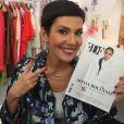Cristina Cordula pose avec le premier numéro de FDF Paris Magazine, dont Sonia Rolland fait la couverture. Photos postée sur Instagram.