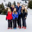 La reine Maxima, le roi Willem-Alexander, la princesse Ariane, la princesse Alexia et la princesse Catharina-Amalia - Rendez-vous avec la famille royale des Pays-Bas à Lech. Le 27 février 2017