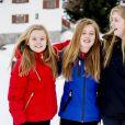 La princesse Ariane, la princesse Alexia et la princesse Catharina-Amalia - Rendez-vous avec la famille royale des Pays-Bas à Lech. Le 27 février 2017 27/02/2017 - Lech
